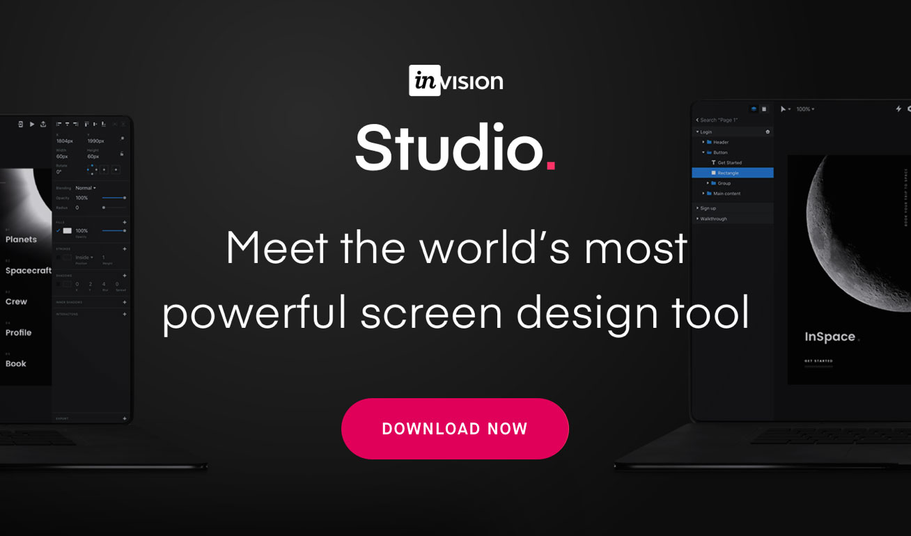 InVision Studio - Meet the world's most powerful screen design tool - Download Now